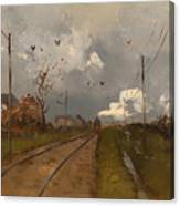 The Train Is Arriving Canvas Print