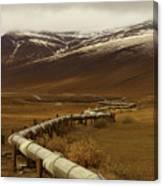 The Trans Alaska Pipeline Canvas Print