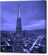 The Transamerica Pyramid At Sunset Canvas Print
