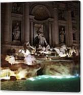 The Trevi Fountain In Rome Canvas Print
