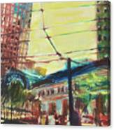 The Trolley Line Canvas Print