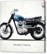 The Trophy Tr6 Sc Motorcycle Canvas Print