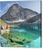 The Turquoise Lake Canvas Print