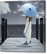 The Turquoise Parasol Canvas Print