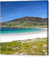 The Turquoise Water Of Dogs Bay Roundstone Ireland Canvas Print