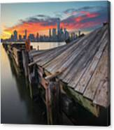 The Twisted Pier Canvas Print