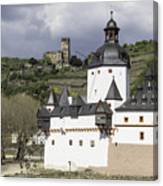 The Two Castles Of Kaub Germany Canvas Print