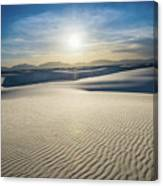 The Unique And Beautiful White Sands National Monument In New Me Canvas Print