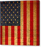 The United States Declaration Of Independence And The American Flag 20130215 Canvas Print