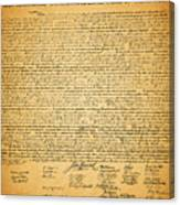 The United States Declaration Of Independence Canvas Print