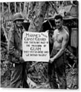 The U.s. Marines Salute The U.s. Coast Canvas Print