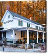 The Valley Green Inn In Autumn Canvas Print