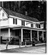 The Valley Green Inn In Black And White Canvas Print