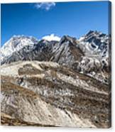 The Valley Leading To Mt Everest In Nepal Canvas Print