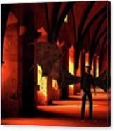 The Vampire Stalks Canvas Print
