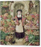 The Vegetable Stall  Canvas Print