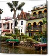 The Venice Canal Historic District Canvas Print