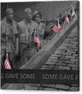 The Vietnam War Memorial Canvas Print