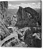 The View From Eisriesenwelt Werfen Ice Cave Canvas Print