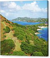 The View From Fort Rodney On Pigeon Island Gros Islet Blue Water Canvas Print