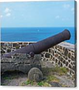 The View From Fort Rodney On Pigeon Island Gros Islet Saint Lucia Cannon Canvas Print