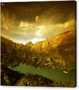 the view from Guadalest Canvas Print