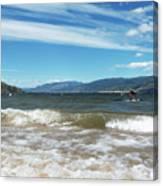 The View From Okanagan Beach Canvas Print