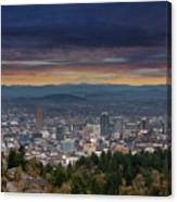 The View From Pittock Mansion Viewpoint Canvas Print