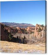 The View Of Red Rock Canvas Print
