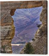 The  View Through The Angels'  Window Canvas Print