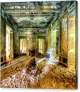 The Villa Of The Boat In The Antique Salon - La Villa Della Barca Nell'antico Salone Canvas Print