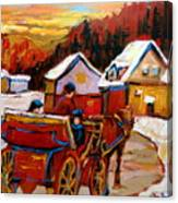 The Village Of Saint Jerome Canvas Print
