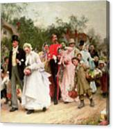 The Village Wedding Canvas Print
