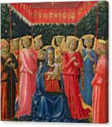 The Virgin And Child With Angels Canvas Print