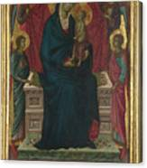 The Virgin And Child With Four Angels Canvas Print
