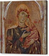 The Virgin And Child With Two Angels Canvas Print