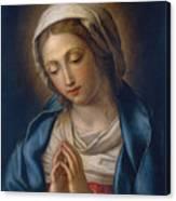 The Virgin At Prayer Canvas Print