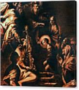The Virgin Entering The Temple Canvas Print