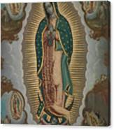 The Virgin Of Guadalupe With The Four Apparitions Canvas Print