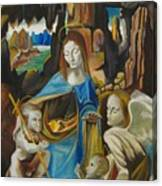 The Virgin Of The Rocks Canvas Print