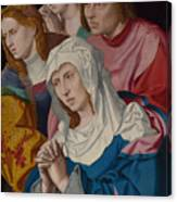 The Virgin Saints And A Holy Woman Canvas Print
