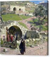 The Virgin Spring In Nazareth Canvas Print