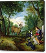 The Vision Of Saint Hubert Canvas Print