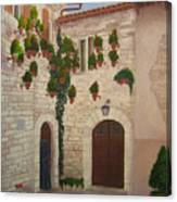 The Visitor In Assisi Canvas Print