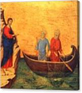 The Vocation Of The Apostle Peter Fragment 1311 Canvas Print