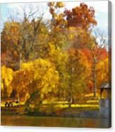 The Vt Duck Pond Canvas Print