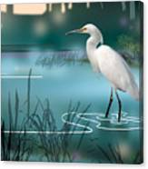 The Wading Hunter Canvas Print