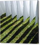 The Washing Is On The Line - Shadow Play Canvas Print