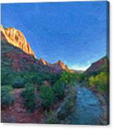 The Watchman Zion National Park Canvas Print