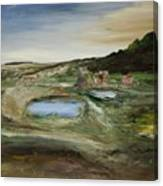 The Water Hole Ranch Canvas Print